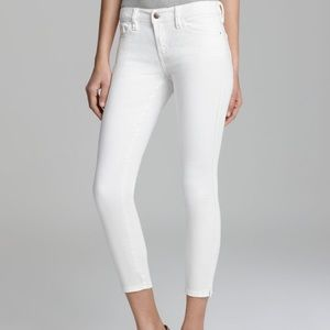 Guess Brittany Skinny Ankle White Jeans
